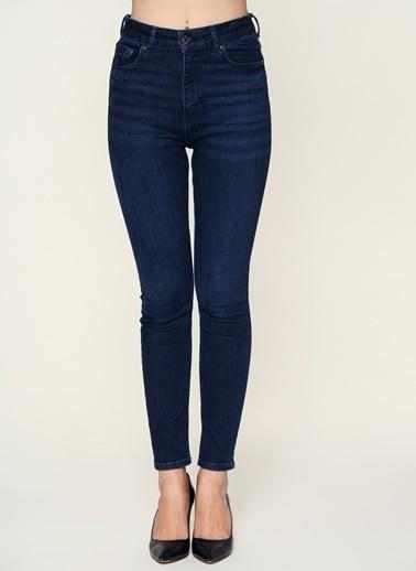 Loves You Yüksek Bel Skinny Jean Pantolon Lacivert